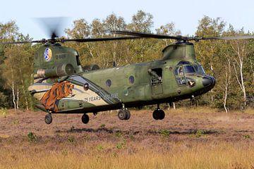 Chinook transporthelikopter 'The Beast' aan het werk van Jimmy van Drunen