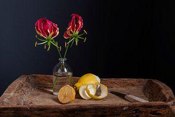 Stilleben mit Gloriosa und Zitronen von Affect Fotografie