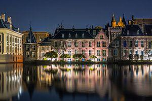 Torentje in Den Haag bij nacht