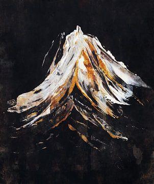 Verschneiter Berg von Angel Estevez
