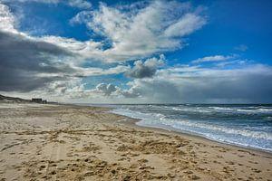 Beach at the dutch North Sea van