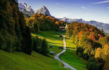 Wamberg - St. Anna in de herfst van Michael Blankennagel