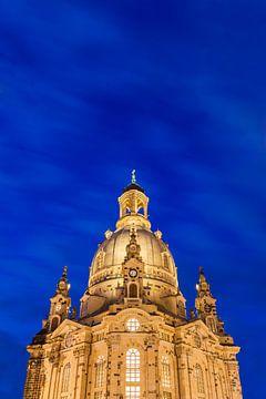 Frauenkirche in Dresden in de avonduren van Werner Dieterich