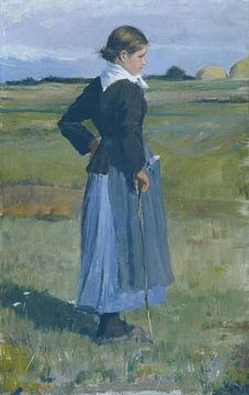 childe Hassam, französisches Bauernmädchen, 1883 von Atelier Liesjes