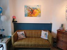 Kundenfoto: Eisvogel Malerei von Jos Hoppenbrouwers, auf alu-dibond
