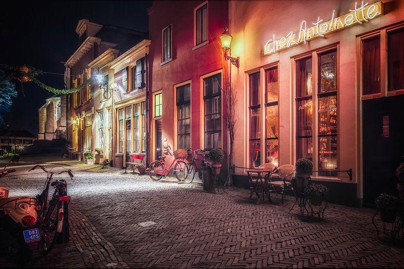 Deventer at Night, Roggestraat 2014 van Jan Haitsma