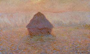 Grainstack, Sonne im Nebel, Claude Monet