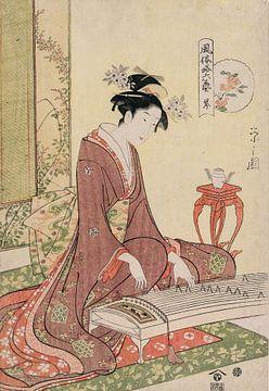 Chōbunsai Eishi. The Six Arts in Fashionable Guise van