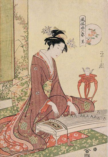 Chōbunsai Eishi. The Six Arts in Fashionable Guise van 1000 Schilderijen