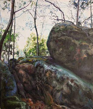 Australische stenen landschap van KB Prints