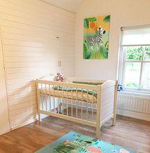 Kundenfoto: Zebra Kinderzimmer von Lonneke Leever, auf leinwand