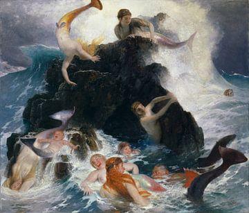 Arnold Böcklin, Spielende Meerjungfrauen und Meerjungfrauen von Atelier Liesjes
