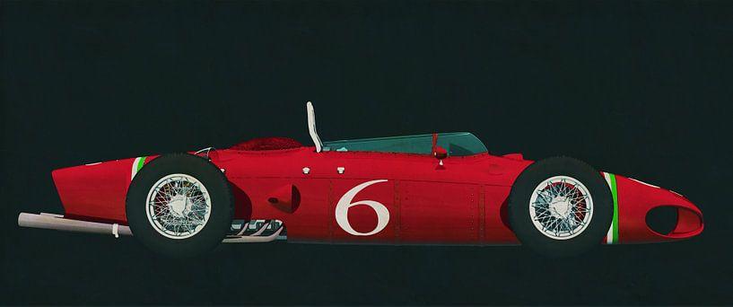 Ferrari 156 Haifisch-Nase 1961 Seitenansicht von Jan Keteleer
