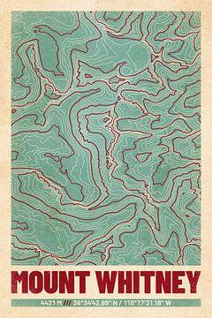 Mount Whitney | Landkarte Topografie (Retro) von ViaMapia