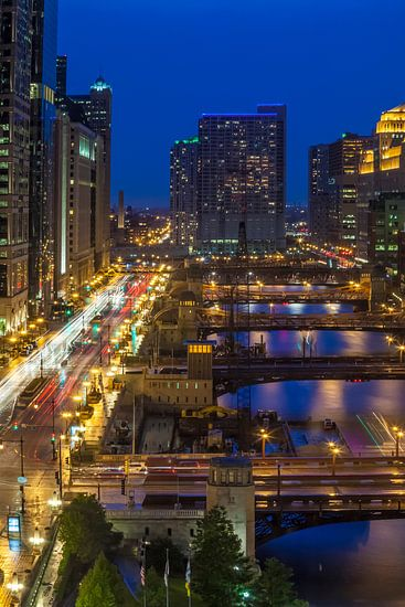 CHICAGO RIVER Bridges  van Melanie Viola