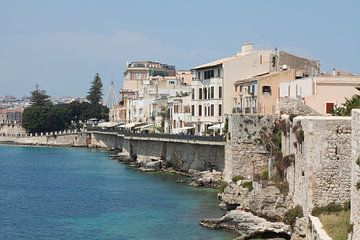 Zeegebied, Ortygia, Ortigia, UNESCO Werelderfgoed, Syracuse, Sicilië, Italië, Europa van Torsten Krüger