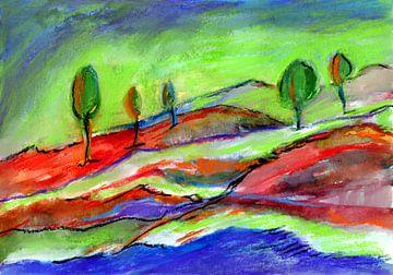 Fünf Bäume von Claudia Gründler