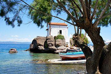 Griechische Insel Lesvos mit dem Fischerdorf Sigri von Karin Corte - Smit