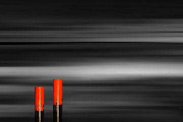 Rot vor Schwarz_Color-Key2 von Manfred Rautenberg Photoart