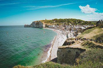 De kliffen van Étretat, Normandië, Frankrijk (3) van Daphne Groeneveld