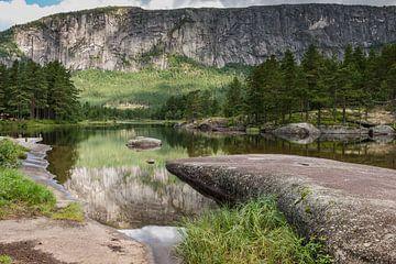 natuur in noorwegen met bergen en water von Compuinfoto .
