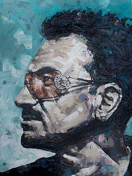 Bono, U2 schilderij van
