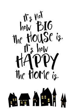 maison heureuse sur
