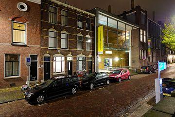 De Lange Nieuwstraat met het Universiteitsmuseum Utrecht van