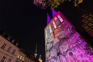 La Nikolaikirche de Berlin sous un éclairage particulier