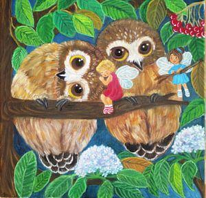 uilen en elfjes van Gloria Gill
