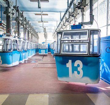 Madrid, Spain,  gondolas, cable car sur Hennnie Keeris