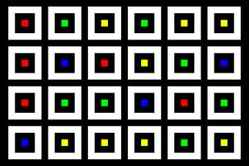 Nested | Center | 06x04 | N=02 | Random #01 | RGBY van Gerhard Haberern