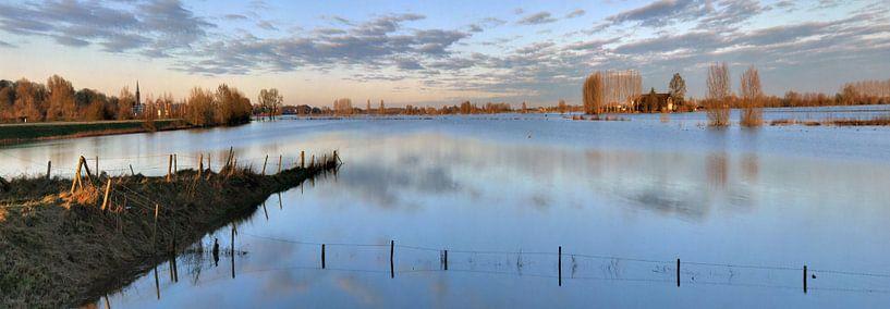 Hoog water tussen Dieren en Doesburg van M  van den Hoven