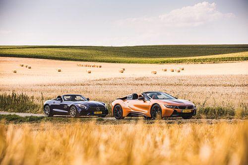 Mercedes GT AMG Roadster vs BMW i8 Roadster van Martijn Bravenboer