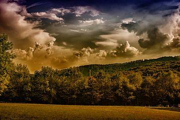 wolkenformatie van Joerg Keller