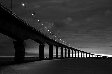 Pont l'Île de Re 6 heure le matin  von Patrick LR Verbeeck