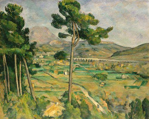 Paul Cézanne. Mont Sainte-Victoire en viaduct bij rivierdal van 1000 Schilderijen