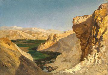 Carlos de Haes-Rivier landschap in de woestijn, Antiek landschap