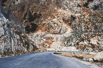 Offene Straße auf Kefalonia, Griechenland von Jason King