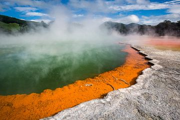 Champagne Pool - Waiotapu, Nieuw-Zeeland sur