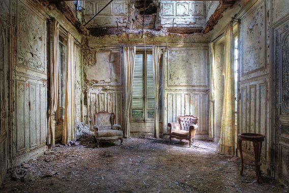 De verlaten salon