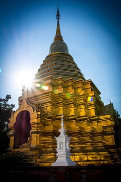 Tempel in Chiang Mai Thailand van Cathy Janssens
