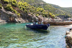 Oud griekse visserboot van