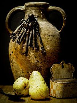 Stilleven met peren van Miriam Meijer, en plein campagne.....