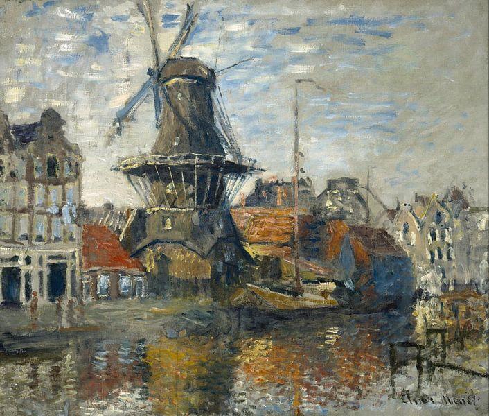 Molen onbekende gracht Amsterdam, Claude Monet van Diverse Meesters