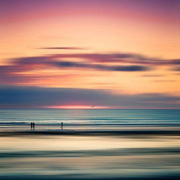 Abendruhe - Sonnenuntergang über dem Atlantik von Dirk Wüstenhagen
