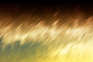 Geel Bruin abstract von Jan Brons