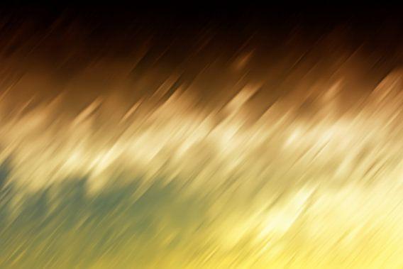 Geel Bruin abstract van Jan Brons
