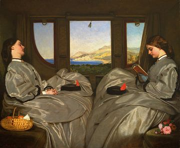 August Leopold Egg, Die reisenden Gefährten - 1862 von Atelier Liesjes