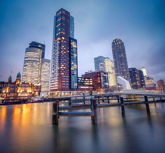Sky line Kop van Zuid Rotterdam van Rene Siebring